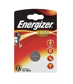 Батарейка Energizer CR2032-1BL Lithium 3В - фото 10789