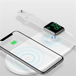 Беспроводная зарядка Baseus Smart 2 in 1 Wireless Charger белый (WX2IN1-02) - фото 10969