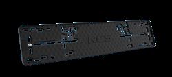 Пластиковая рамка номерного знака RCS-Light черная 1шт - фото 11094
