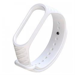 Ремешок силиконовый ребристый для Xiaomi Mi Band 3/4 белый - фото 11178