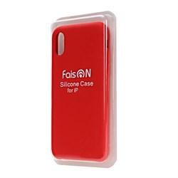 Силиконовый чехол FaisOn для Apple iPhone X/XS красный - фото 11633