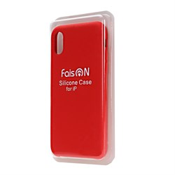 Силиконовый чехол FaisOn для Apple iPhone 5/5S/SE красный - фото 11636