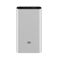 Внешний аккумулятор Xiaomi Mi Power Bank 3 10000 mAh (PLM12ZM) серебристый - фото 11972