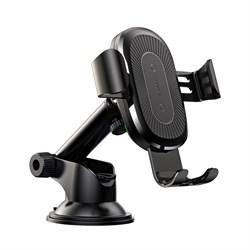 Автомобильный держатель Baseus Wireless Charger Gravity Car Mount черный (WXYL-A01) с функцией беспроводной зарядки - фото 12052