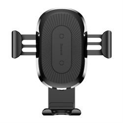 Автомобильный держатель с беспроводной зарядкой Baseus Wireless Charger Gravity Car Mount черный (WXYL-01) - фото 12222
