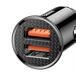 Автомобильное зарядное устройство Baseus Dual QC 3.0 2xUSB 30W (CCALL-YD01) черный - фото 12251