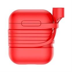 Чехол для Apple AirPods Baseus (TZARGS-09) красный - фото 12265