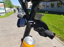 Велосипедный цепной замок в тканевой оплетке LiRider черный - фото 12267
