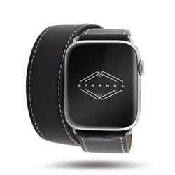 Ремешок Double Tour (Wave) для Apple Watch 42/44mm черный - фото 12367