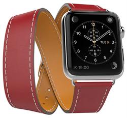 Ремешок Double Tour (Wave) для Apple Watch 38/40mm красный - фото 12372