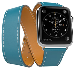 Ремешок Double Tour (Wave) для Apple Watch 38/40mm голубой - фото 12374
