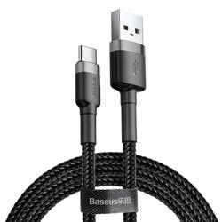 Кабель Baseus Cafule USB - Type-C 3А 1м черный/серый (CATKLF-BG1) - фото 12633
