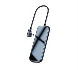 USB-концентратор Baseus Multi-functional Hub (CAHUB-CZ0G) USB-C to HDMI/3xUSB 3.0/SD/MicroSD/PD (Deep Grey) - фото 12696