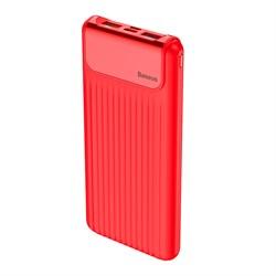 Внешний аккумулятор Baseus Thin Digital 10000 mAh Power Bank QC 3.0 красный (PPYZ-C09) - фото 13036