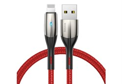Кабель Baseus Horizontal Data Cable USB - Lightning 1м красный (CALSP-B09) - фото 13162