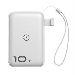 Внешний аккумулятор Baseus Mini S Bracket Wireless Charger 10000mAh (PPXFF10W-02) белый - фото 13409
