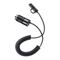 Автомобильное зарядное устройство Baseus Enjoy Together 2-in-1 (CCALL-EL01) черный - фото 13515