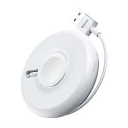 Беспроводное зарядное устройство Baseus YoYo для Apple Watch (WXYYQIW03-02) белый - фото 13524
