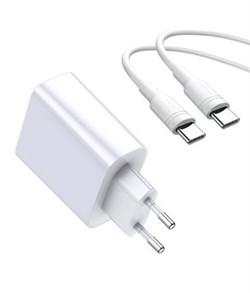 Сетевое зарядное устройство Baseus Speed PPS Quick Charger Adaptor QC 3.0 USB + Type-C (TZCAFS-A02) белый - фото 13655