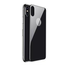 Защитное стекло для iPhone X/XS Baseus 0.3mm All-coverage Arc-surface Back Tempered Glass (SGAPIPHX-4D0G) черный - фото 13748