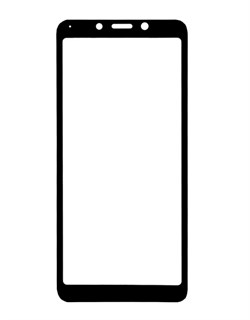 Защитное стекло Full Screen для XIAOMI Redmi 6A черный техпак - фото 13887