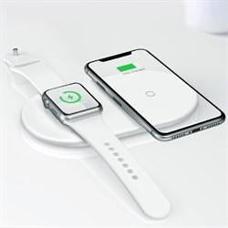 Беспроводное зарядное устройство Baseus Smart 2 in 1 Wireless Charger Type-C Version  белый (WX2IN1P20-02) - фото 14090