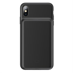Чехол-аккумулятор Baseus Liquid Silicone Smart for iPhone Xs Max (ACAPIPH65-BJ01) черный - фото 14131