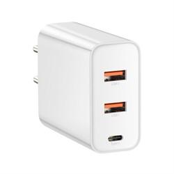 Зарядное устройство Baseus Speed PPS Three output Quick Charger 60W белый (CCFS-G02) - фото 14220