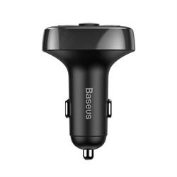 Автомобильное зарядное устройство с FM-трансмиттером Baseus T typed Bluetooth MP3 Charger (Standard edition) (CCTM-01) - фото 14400