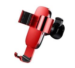 Автомобильный держатель для телефона в дефлектор Baseus Metal Age Gravity Car Mount (SUYL-D09) красный - фото 14416