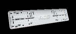 Пластиковая рамка номерного знака RCS-Light белая 1шт - фото 14452
