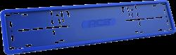 Силиконовая рамка номерного знака RCS V4.0 синяя 1шт - фото 14479