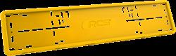 Силиконовая рамка номерного знака RCS V4.0 желтая 1шт - фото 14491