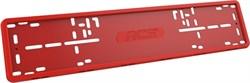 Силиконовая рамка номерного знака RCS V4.0 красная 1шт - фото 14501
