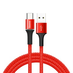Кабель Baseus Halo Data Cable USB - Type-C 3A 1м красный (CATGH-B09) - фото 14621