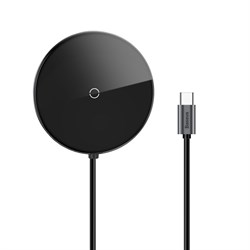 USB-концентратор Baseus Circular Mirror Wireless Charger HUB USB-C (WXJMY-0G) черный - фото 14820