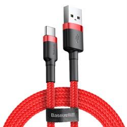 Кабель Baseus Cafule USB - Type-C 3А 1м красный/черный (CATKLF-B09) - фото 15095
