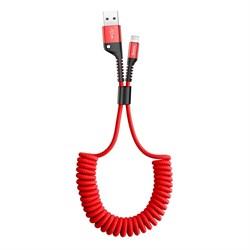 Кабель Baseus Fish Eye Spring USB - USB Type-C 1м красный (CATSR-09) - фото 15171