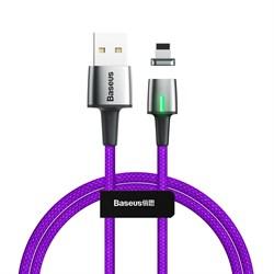 Кабель магнитный Baseus Zinc Magnetic Cable USB - Lightning 2.4A 1м фиолетовый (CALXC-A05) - фото 15280