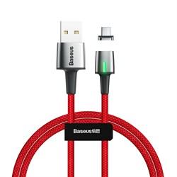 Кабель магнитный Baseus Zinc Magnetic Cable USB - Type-C 3A 1м красный (CATXC-A09) - фото 15326