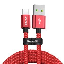 Кабель Baseus Double fast charging USB - Type-C 5A 1м красный (CATKC-A09) - фото 15400