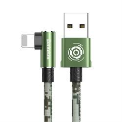 Кабель Baseus Camouflage Mobile Game Cable USB - Lightning 2,4A 1м зеленый (CALMC-A06) - фото 15486