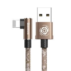 Кабель Baseus Camouflage Mobile Game Cable USB - Lightning 2,4A 1м коричневый (CALMC-A12) - фото 15504