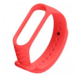 Ремешок силиконовый ребристый для Xiaomi Mi Band 3/4 красный - фото 15954