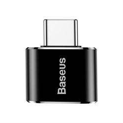 Переходник Baseus USB female to Type-C male adapter converter черный (CATOTG-01) - фото 16099