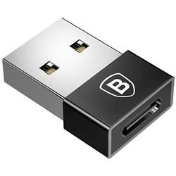 Переходник Baseus Exquisite USB Male to Type-C Female Adapter Converter (CATJQ-A01) черный - фото 16445