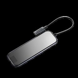 USB-концентратор Baseus Multi-functional Hub USB-C to HDMI/3xUSB 3.0/RJ45/PD (CAHUB-DZ0G) - фото 16630