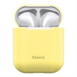 Чехол для Airpods Baseus Ultrathin Series Silica Gel Protector (WIAPPOD-BZ0Y) желтый - фото 16761