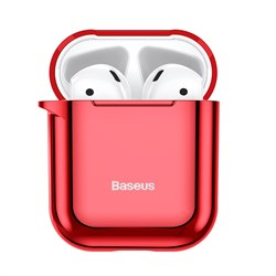 Чехол для Airpods Baseus Shining hook Case (ARAPPOD-A09) красный - фото 16797