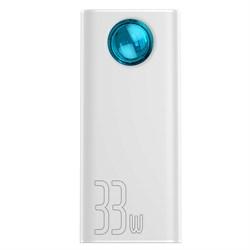 Внешний аккумулятор Baseus Amblight Quick Charger Power Bank PD3.0+QC3.0 30000mAh белый (PPLG-02) - фото 16893